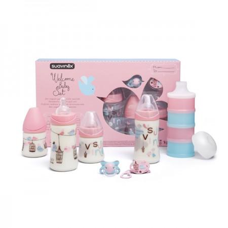 Zestaw startowy | Welcome Baby Set różowy | Suavinex