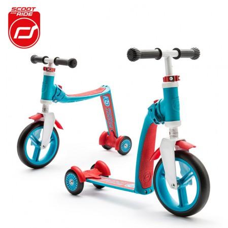 Rowerek biegowy i hulajnoga 2w1 | 1-3 lata Highwaybaby Plus | Scoot & Ride | kolor niebieski