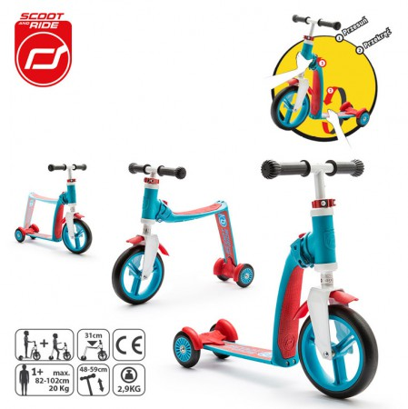 Rowerek biegowy i hulajnoga 2w1 | 1-3 lata Highwaybaby Plus | Scoot & Ride