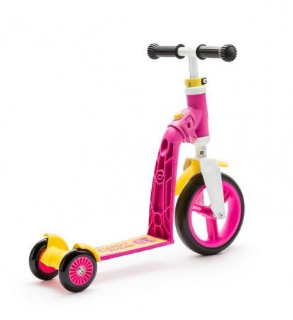 Rowerek biegowy i hulajnoga 2w1 | 1-3 lata Highwaybaby Plus | Scoot & Ride   jako hulajnoga