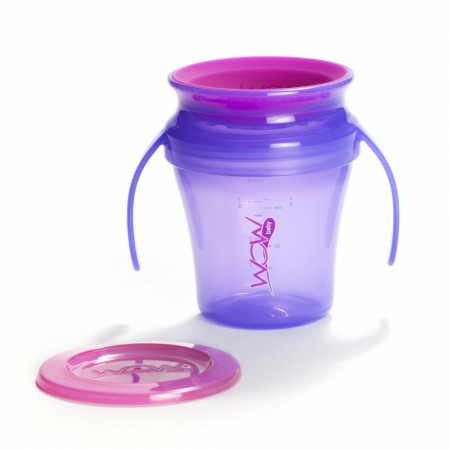 Kubek niekapek 360 stopni | WOW Cup Baby 207 ml | fioletowy