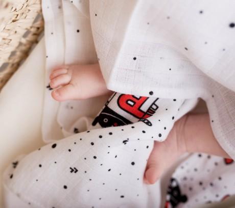 Poduszka dla niemowląt muślinowa | wzór MrB | Lullalove