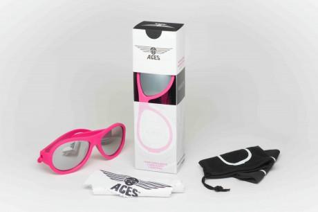 Okulary przeciwsłoneczne Aces Aviator | Różowe lusterkowe | Babiators - w zestawie ściereczka i miękkie etui