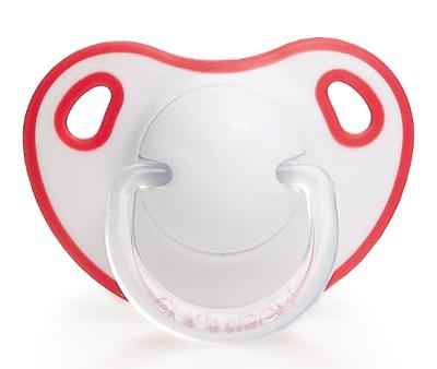 Smoczek anatomiczny silikon | 0-6m | czerwony | Suavinex Comfort