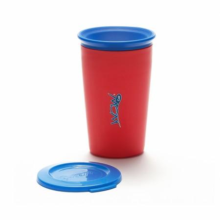 Kubek niekapek 360 stopni | WOW Cup Kids 266 ml | czerwony