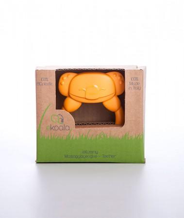 Gryzak koala z uchwytem | pomarańczowy | 100% BIOplastik | eKoala