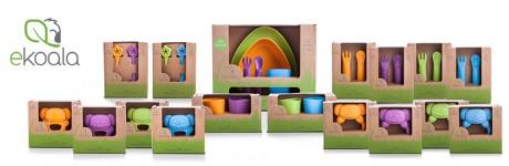 Produkty eKoala produkowane są we Włoszech, w całości z BIOplastiku, materiału pochodzącego z produktów odnawialnych