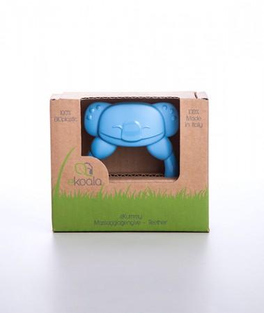 Gryzak koala z uchwytem | niebieski | 100% BIOplastik | eKoala