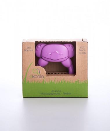 Gryzak koala z uchwytem | fioletowy | 100% BIOplastik | eKoala