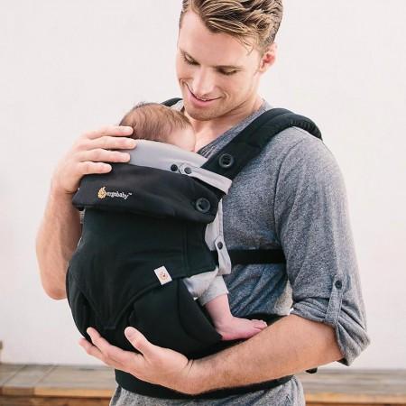 Wkładka dla noworodka do nosidełka Ergobaby | Easy Snug Grey - na zdjęciu wkładka jest umieszczona w nosidełku Ergobaby