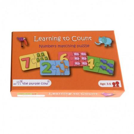 Puzzle 2 elementowe | Nauka liczenia | The Purple Cow
