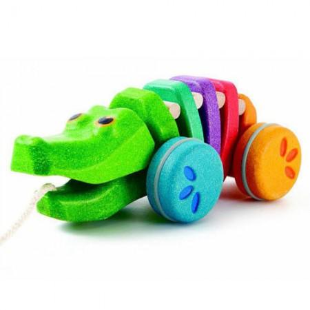 Tęczowy krokodyl do ciągnięcia | Plan Toys