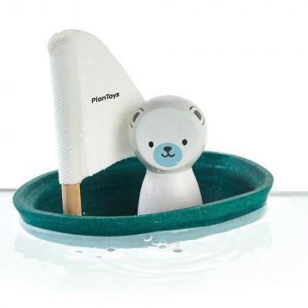 Żaglówka z misiem polarnym - zabawka do kąpieli | Plan Toys