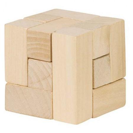 Drewniana kostka układanka logiczna | Goki