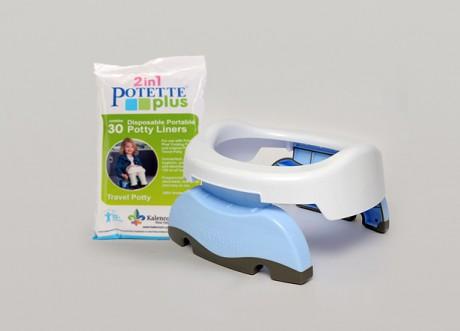 Nocnik turystyczny i nakładka na WC 2w1 | Potette Plus -można dokupić jednorazowe wkłady do nocnika