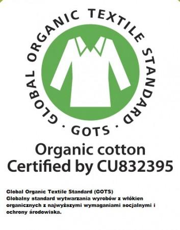 Firma Martello posiada certyfikat GOTS, który oznacza, że wyroby i sposób ich wytwarzania jest bezpieczny dla nas i środowiska.