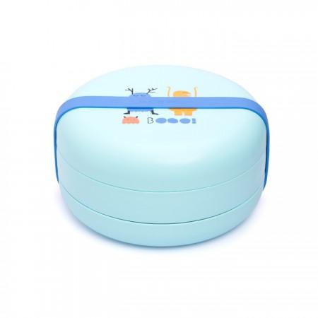 Zestaw talerzyków i pojemników do karmienia | niebieskie | Suavinex Booo