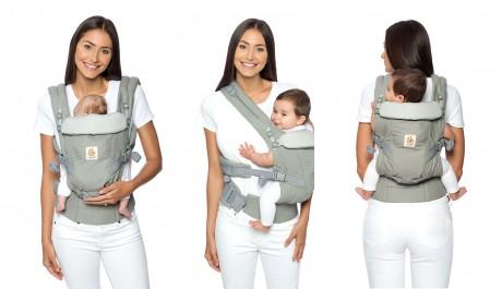 3 pozycje noszenia dziecka w nosidle Ergobaby Adapt