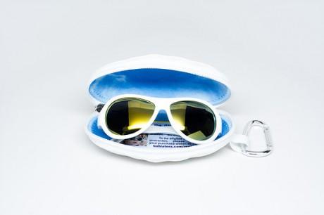 Okulary przeciwsłoneczne z polaryzacją | 0-3 lat | białe z żółtymi szkłami lusterkowymi | Babiators