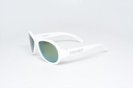 Okulary przeciwsłoneczne z polaryzacją | 3-7 lat | białe z żółtymi szkłami lusterkowymi | Babiators