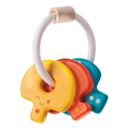 Drewniana grzechotka klucze | Plan Toys