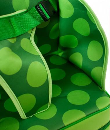 Przenośny fotelik do karmienia | zielony w kropki | 40settimane