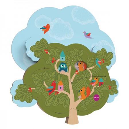Zabawka przyklejana na ścianę Domek Wiewiórki VertiPlay | Oribel
