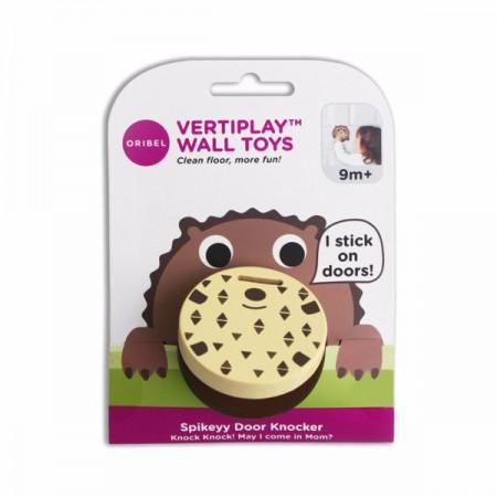 Zabawka przyklejana na ścianę Kołatka Spiczasty Jeż VertiPlay | Oribel