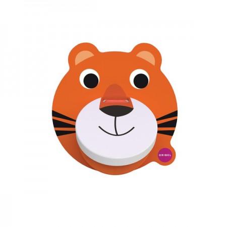 Zabawka przyklejana na ścianę Kołatka Tygrysek VertiPlay | Oribel