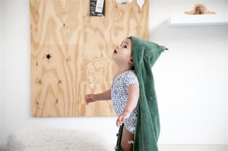Otulacz - śpiworek z metkami | zielony |  Snoozebaby