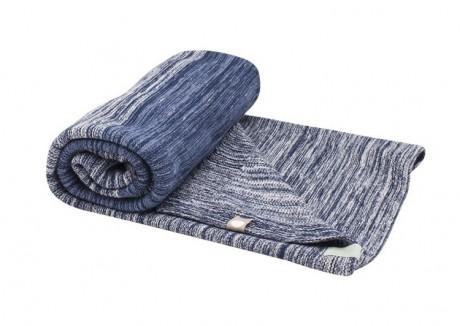 Kocyk tkany bawełniany 100X150 cm | granatowy | Snoozebaby