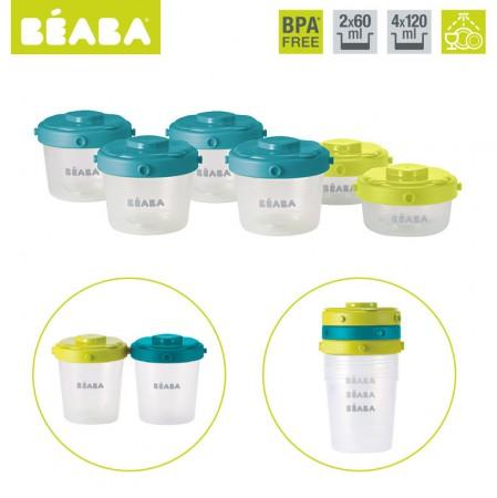 Zestaw słoiczków Clip 6 szt. 60 ml i 120 ml | Beaba