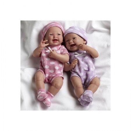 Lalka La Newborn | Dziewczynka w różowym ubranku w grochy | Berenguer