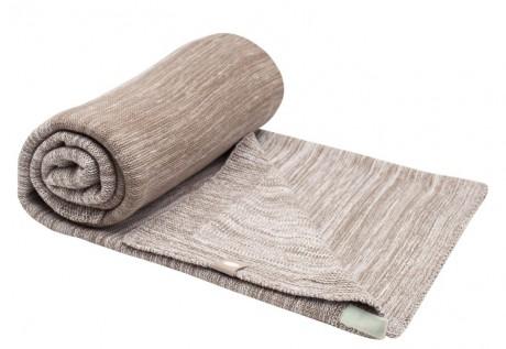 Kocyk tkany bawełniany 75x100cm | brązowy | SnoozeBaby