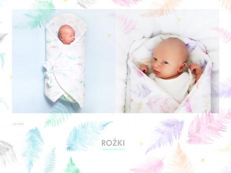 Rożek - mata niemowlęca   paprocie   Lullalove