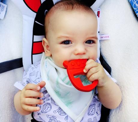 Śliniaczek - apaszka dla dziecka | paprocie miętowe | Lullalove