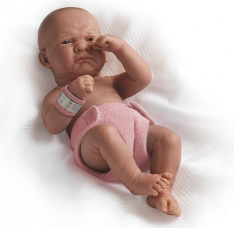 Lalka Bobas | Płacząca dziewczynka - noworodek | Berenguer La Newborn