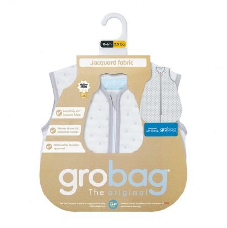 Śpiworek do spania 6-18m Gro Bag | 2,5 tog | Grey Circles Jacquard | Gro Company
