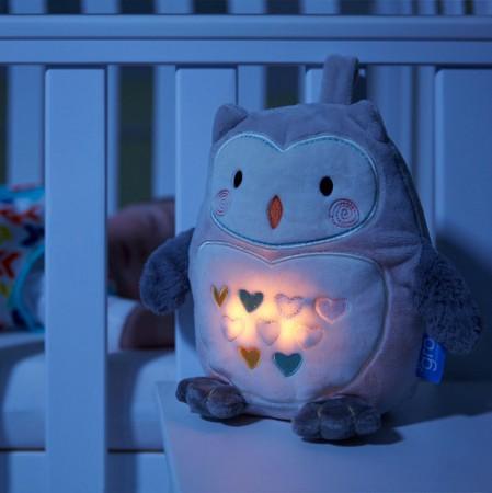 Sowa Ollie Szumiąca Przytulanka z czujnikiem płaczu i lampką nocną | Gro Company