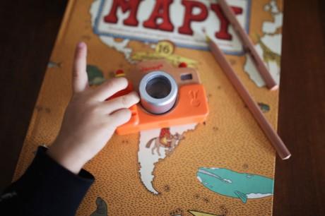 Drewniany aparat fotograficzny z dźwiękami | Janod