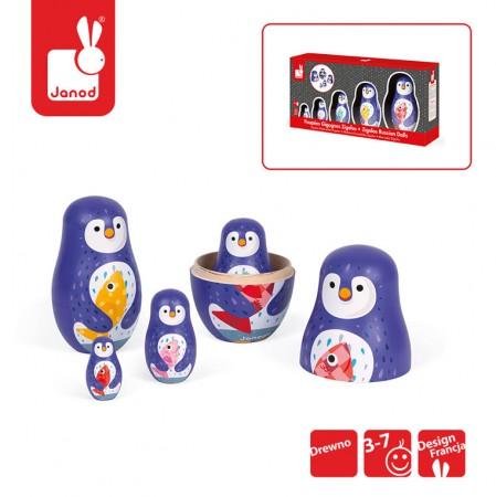 Rodzina pingwinów matrioszki | Janod