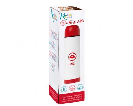 Termos na napoje 500 ml | Mrs biało-czerwony | Kiokids