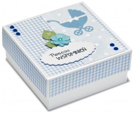 Pudełeczko wspomnień | idealne do przechowania pierwszych ząbków i pukiel włosków | niebieskie