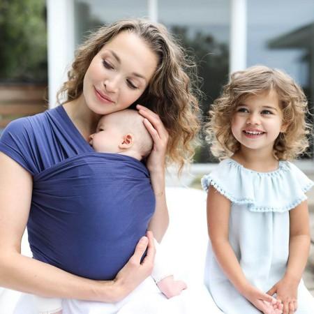 Elastyczna chusta do noszenia niemowląt | Aura | kolor Indigo | Ergobaby