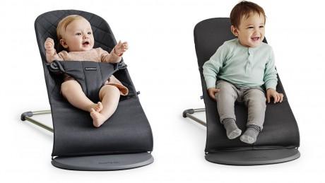 Leżaczek dla dziecka BABYBJORN może stać się wygodnym fotelikiem