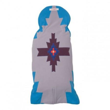 Otulacz- rożek Clever 3w1 | polar | kolor BLUES | Lodger - tył złożony