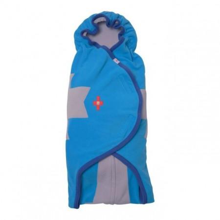 Otulacz- rożek Clever 3w1 | polar | kolor BLUES | Lodger