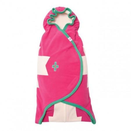 Otulacz- rożek Clever 3w1 | polar | kolor ROSA | Lodger