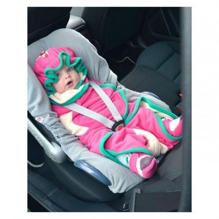 Otulacz- rożek Clever 3w1 | polar | Lodger - można zapiąć dziecko do fotelika samochodowego bez wyciągania z otulacza