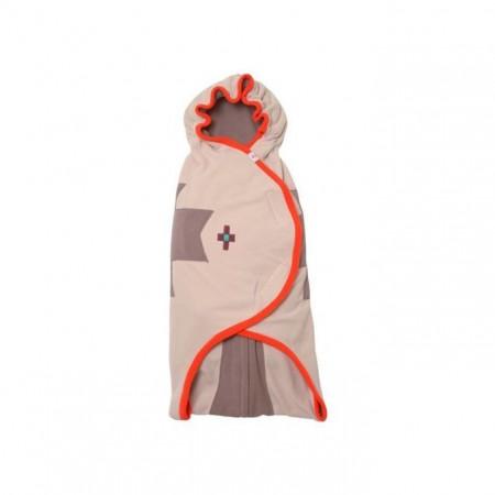 Otulacz- rożek Clever 3w1 | polar | kolor TANGERINE | Lodger